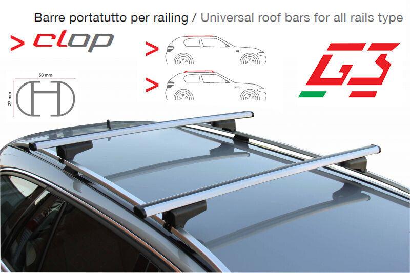 tetto Menabo Nere Barre Portatutto Portapacchi FIAT IDEA 2005/>2012 5P