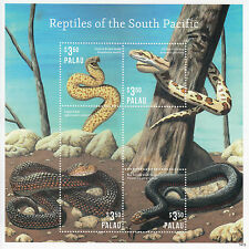 Palau 2014 MNH Reptiles of South Pacific 4v M/S II Snakes Python Copperhead