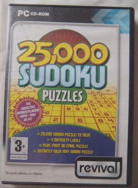 71857 - 25,000 Sudoku Puzzles-PC (2005) Windows XP REV082/D