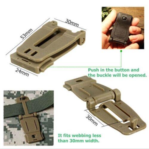 5pcs Molle Strap Backpack Bag Webbing Connecting Buckle Clip Carabiner EDC