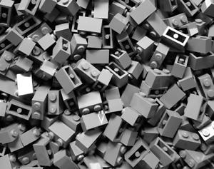 Steine 1x2 3004 500 x LEGO® Brick in Neu Dunkel Grau Dark Bluish Gray