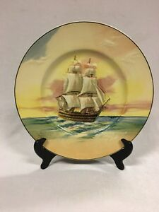 Image is loading Vintage-Royal-Doulton-Plate-Famous-Ships-Lord-Nelson- & Vintage Royal Doulton Plate Famous Ships Lord Nelson The Victory ...