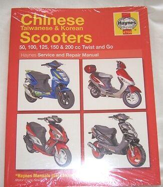 Haynes Workshop Manual Chinese Taiwanese Korean Scooters Yiben Yiying Zongshen