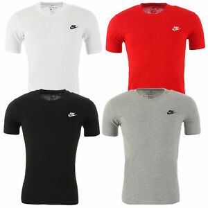 Nike-Herren-T-Shirt-Swoosh-Core-Basic-Shirt-Freizeit-Tee-100-Baumwolle-S-XXL