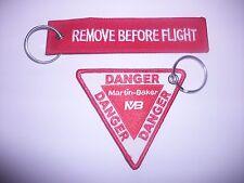 RAF AVIATION REMOVE BEFORE FLIGHT DANGER MARTIN BAKER DESIGN  KEY RINGS FREE P+P