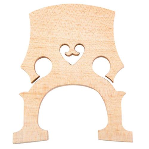 3//4 Double Bridge Ahorn Bass Bridge Holz Upright Bridge für Akustikbass