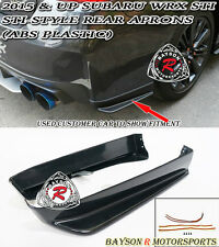ST-Style Rear Aprons (ABS Plastic) Fits 15-17 Subaru WRX STi VA1 VA2 4dr