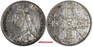 GREAT-BRITAIN-Victoria-Silver-1887-Double-Florin-Mintage-483-000-Roman-XF-KM-763