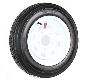 Trailer-Tire-On-Rim-4-80-12-480-12-4-80-X-12-12-in-LRB-5-Lug-Wheel-White-Spoke