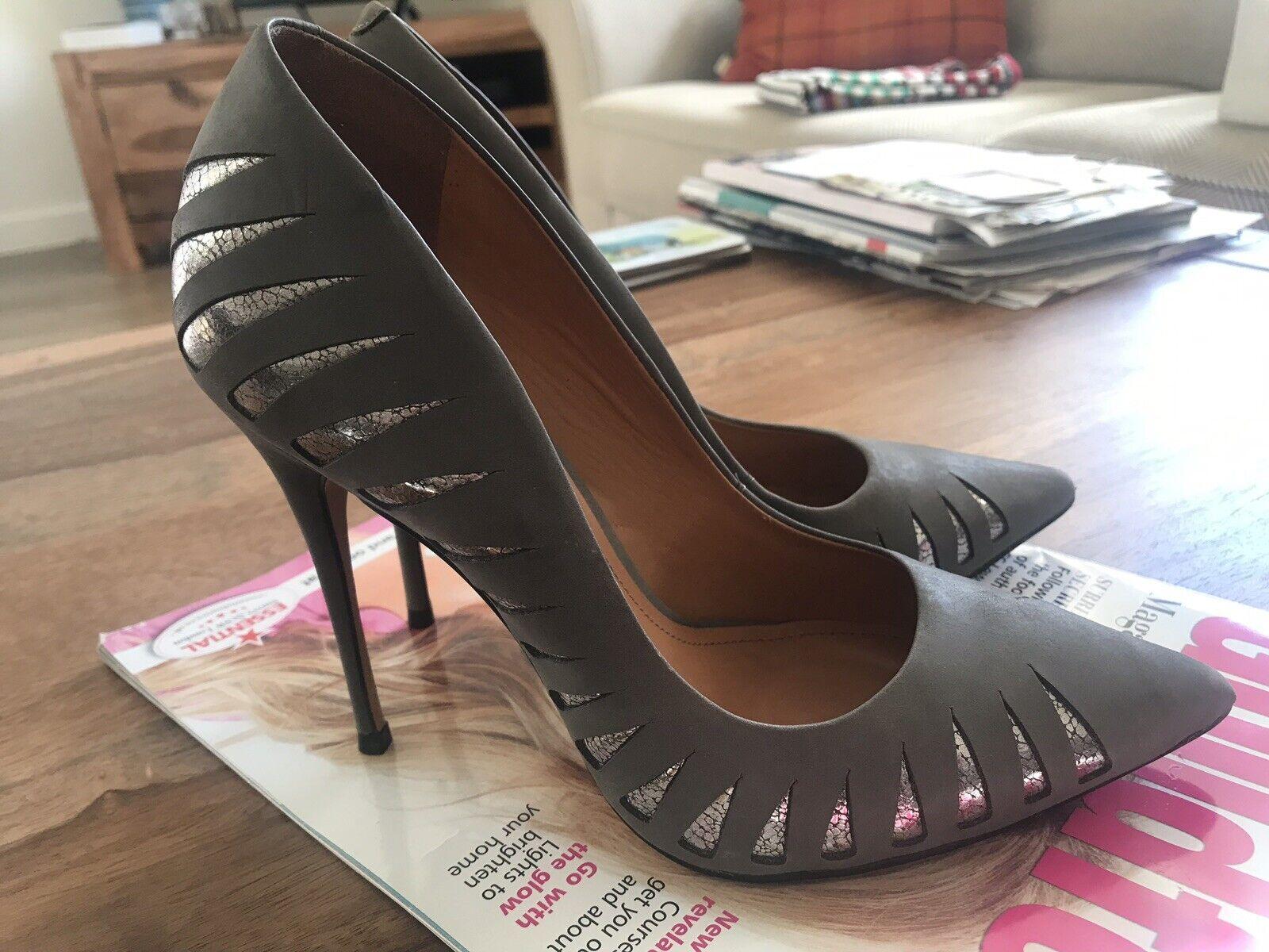 qualità autentica KAZAR grigio in pelle tacco tacco tacco alto a corte scarpe con i dettagli micro-Taglia 4  profitto zero