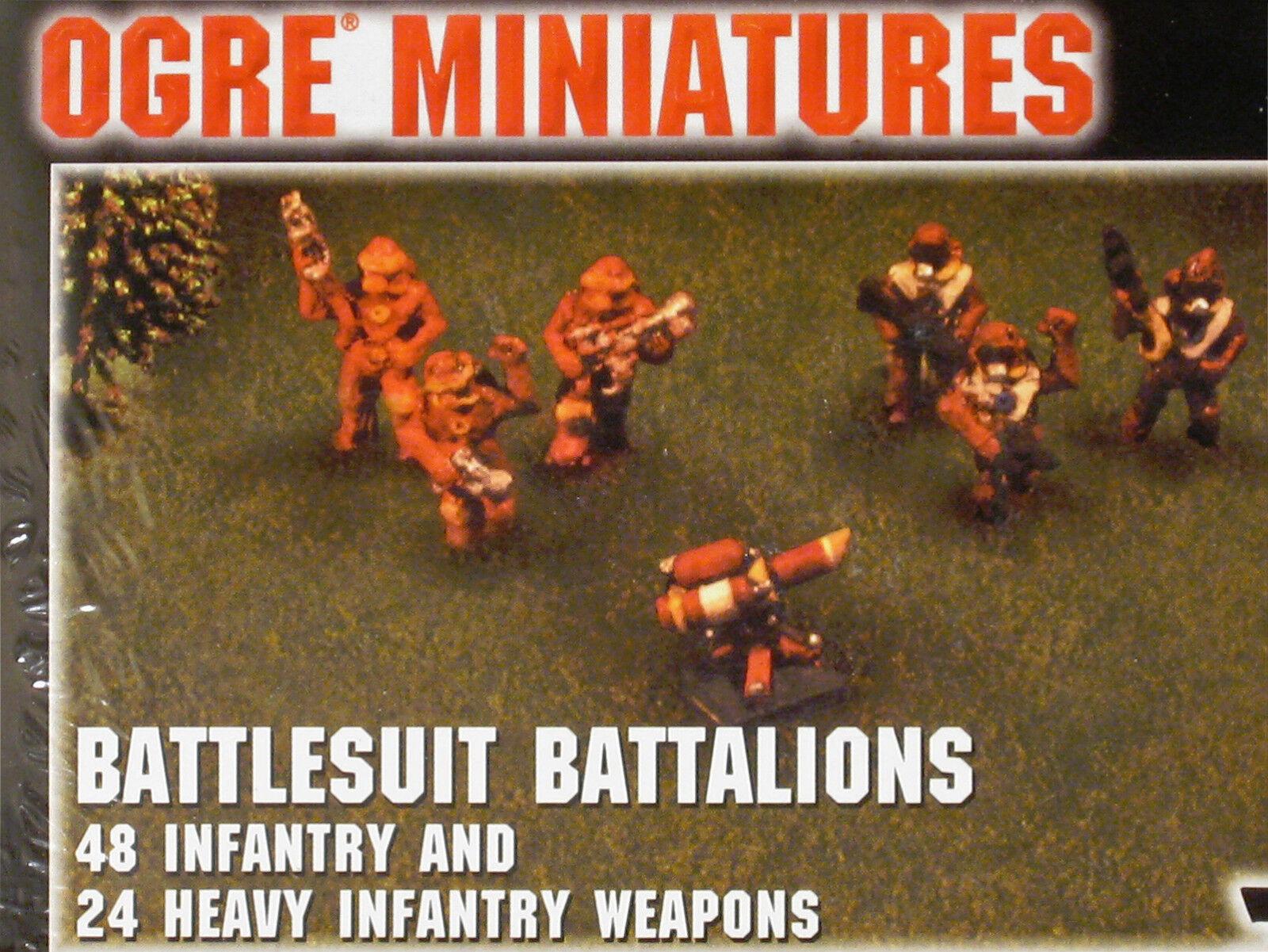 Ogro Paneuro conjunto 7 Battlesuit batallones, miniaturas Jackson Games, megaextras