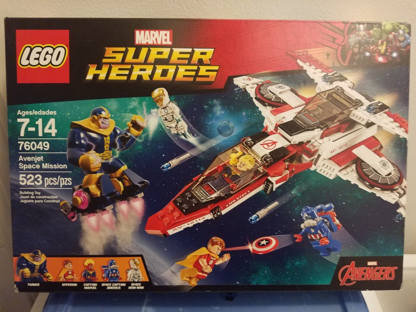 LEGO CAPTAIN Marvel Super Heroes Avenjet Space Mission (76049) Retired THANOS