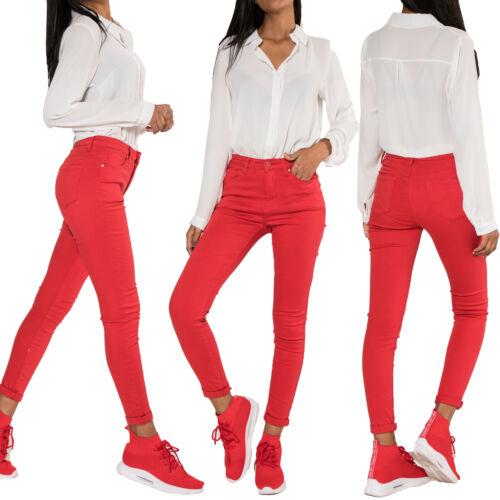 Le donne a vita alta Denim Jeans skinny donna pants stretch taglia 6 8 10 12 14 16