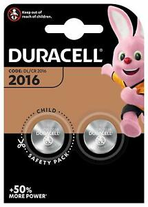 DURACELL CR2016 Bouton Lithium 3 V Blister de 2 Piles - Date 2029