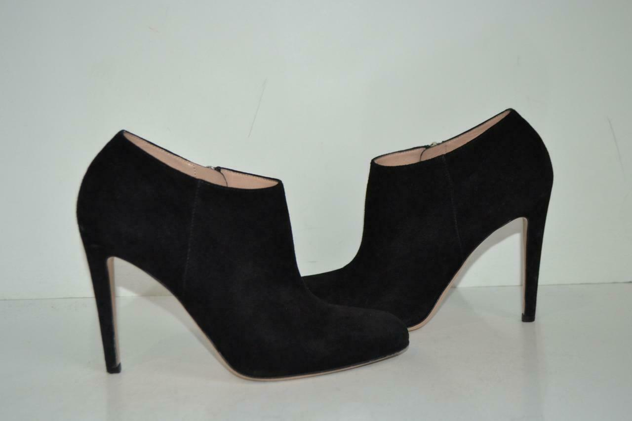 Gianvito Rossi Black Suede Ankle Boots Booties shoes Size 39