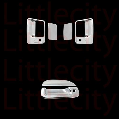 99-02 03 04 05 06 07 Ford F250 SuperDuty Chrome 2 Door Handle Tailgate Cover W//K