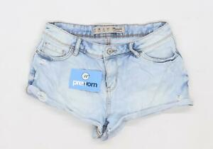 Womens-Denim-Co-Blue-Denim-Shorts-Size-10-L2
