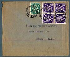 BELGIO/BELGIUM - Lettera (12.04.1946) per Milano, affrancato per 3,50 fr.