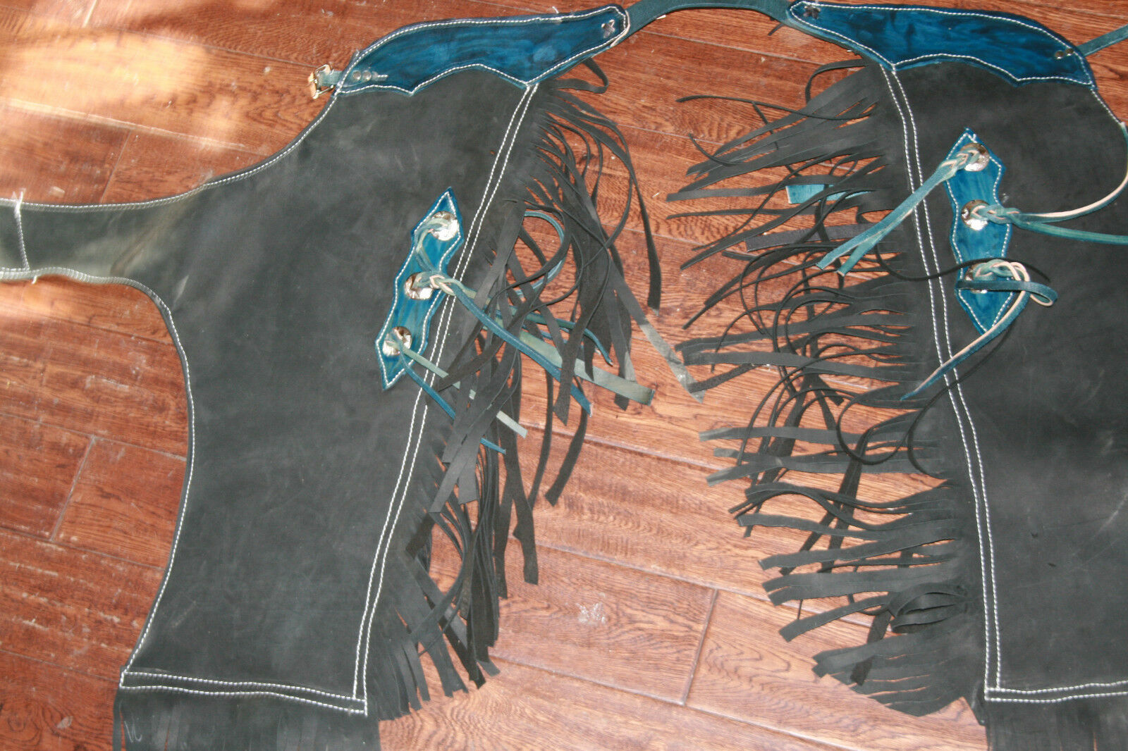 Paquete de montar toros Gear Toro Equitación Chaps Bull Cuerda Bullrope Rodeo Chaps Gear