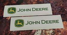 2 X JOHN DEERE STICKERS DECALS 150mm x 34mm Tractor