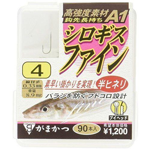 Gamakatsu single Hook THE BOX A1 Shirogisu FINE #4 90pon Brown  Fishing Hook
