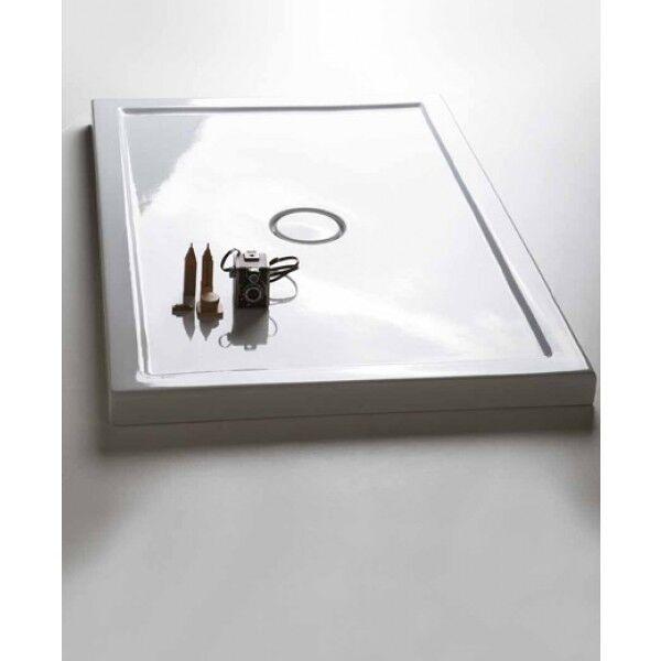Piatto doccia doccia doccia slim in ceramica 70x140 h6 bianco di ceramica Cielo 37cb94