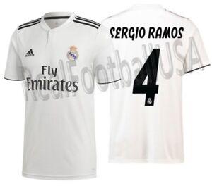 5c3e25d963c Adidas Sergio Ramos Real Madrid Home Jersey 2018 19 Ebay
