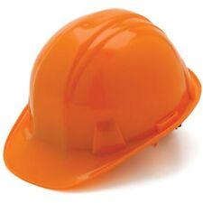 Pyramex Orange Hard Hat 6 Point Ratchet Suspension