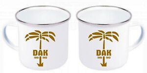 DAK Afrikakorps Palme Wehrmacht Africacorps Emaille Tasse Kaffeetasse Coffee Mug