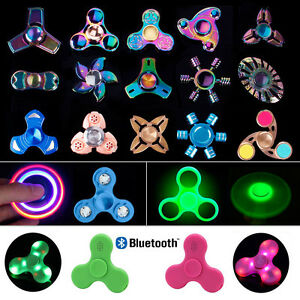 3D Fidget Focus Toy HAND SPINNER Finger EDC Stress ADHD Autism Toys Kids Adults