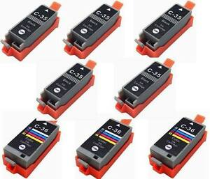 8-Pack-Comp-Ink-for-Canon-PGI-35-CLI-36-PIXMA-ip100-mini260-mini320
