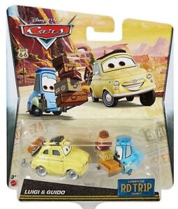 CARS 2 LUIGI GUIDO /& ZIO TOPOLINO Mattel Disney Pixar