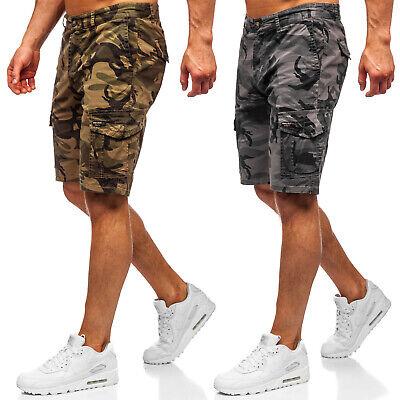 Cargo Kurzhose Shorts Bermudas Kurze Cargoshorts Camo Herren Mix BOLF Motiv WOW