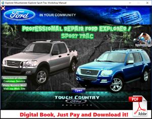 ford explorer and sport trac 2007 - 2010 factory repair service manual |  ebay  ebay