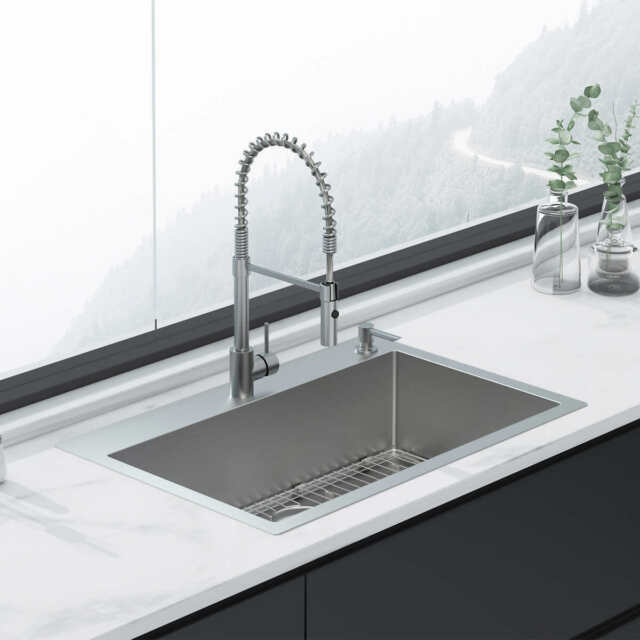 New American Standard Culver Welded Kitchen Sink And Semi Pro Faucet Package For Sale Online