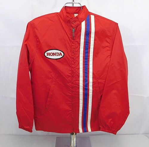 Vintage HONDA Racing Zip Up Windbreaker Jacket w/R