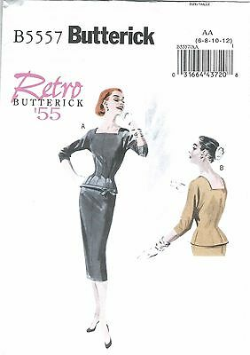 LADIES RETRO 1955 TOP /& SKIRT PATTERN  6-20  FF UNCIRCULATED BUTTERICK #B5557
