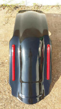 """4"""" STRETCHED REAR FENDER OVERLAY W LIGHT LED 4 HARLEY TOURING ROAD KING GLIDE"""