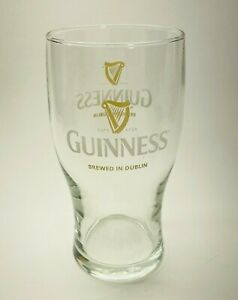 Guinness Beer 20 oz Pub Glass w/ Harp Brewed in Dublin Ireland Stout Gravity