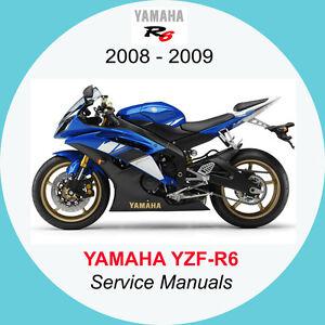 yamaha yzf r6 2008 2009 full service manual a2 ebay rh ebay co uk 2009 Yamaha R6 2007 yamaha yzf r6 service manual