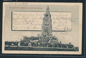34876) Bahnpost Apenrade-lügumkloster Train 14, Ak A. Bismarck-monument 1902-al 1902fr-fr Afficher Le Titre D'origine