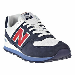 reputable site 85708 b72a5 Details about New Balance 574 Core Plus Men's 10-1/2 Shoes NAVY/CHILI  ML574ESC *NWB*