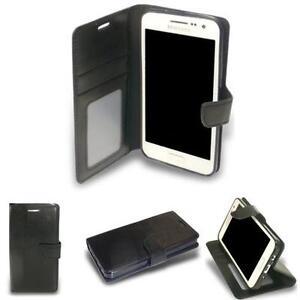 HPO-Brief-Buch-Handy-Tasche-Samsung-Galaxy-A3-A300U-Wallet-Case-Silikon-SCHWARZ
