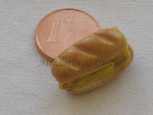 Bocadillo tortilla de fimo miniatura 1/12 casa muñecas