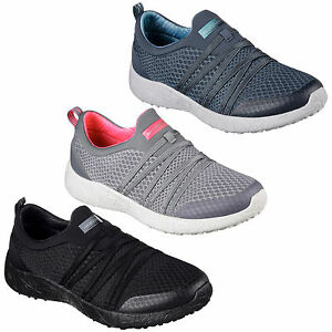 356af9e29c14 Details about Skechers Burst Very Daring Trainers Womens Sports Memory Foam  Slip On Shoes