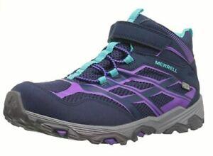 3c7237e40b Merrell Girls Moab Mid Waterproof Hiking Boots   eBay