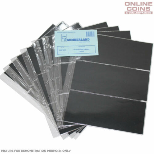 Cumberland 3 Pocket Clear PVC Punched 7 Hole Pages Packet of 10