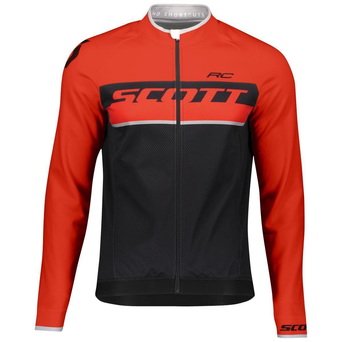 Scott RC AS WP Winter Fahrrad Trikot schwarz/rot 2019