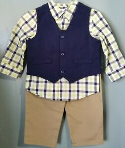 3-6 month blue and white sweater vest