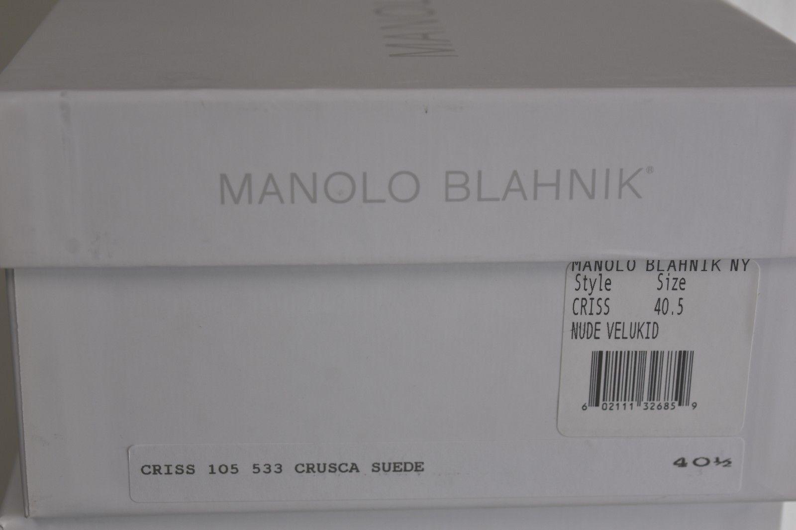 745 NEW Manolo Blahnik CRISS 105 Suede Suede Suede NUDE Beige Sandals schuhe 36 39 40 40.5 ba9d1f